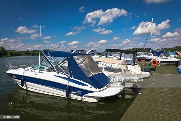 Motorboats in Marina, Mikolajki, Poland