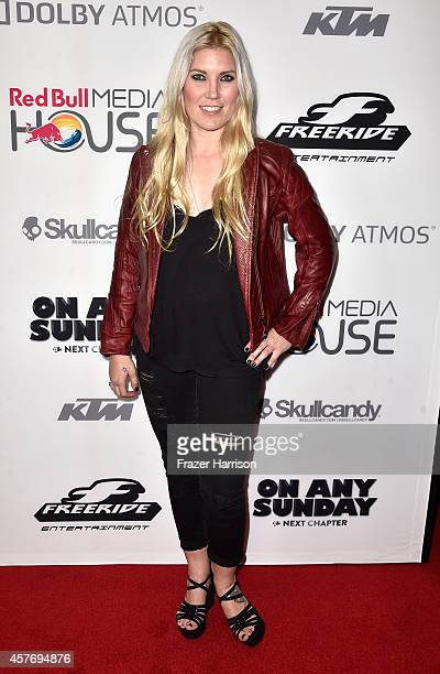 Motorcross Rider Joelene Van Vugt arrives at the Premiere of Red Bull Media House's On Any Sunday The Next Chapter at Dolby Theatre on October 22...