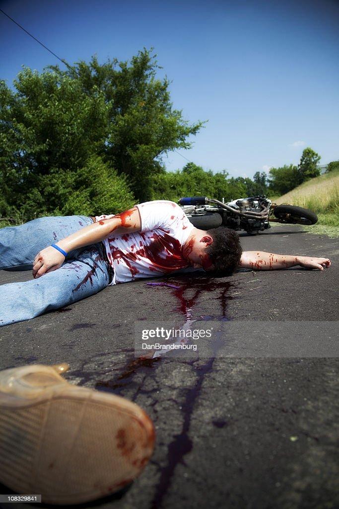 Motorcycle Accident : Stock Photo