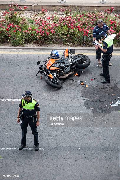 motorcycle accident - motorcycle accident stock pictures, royalty-free photos & images