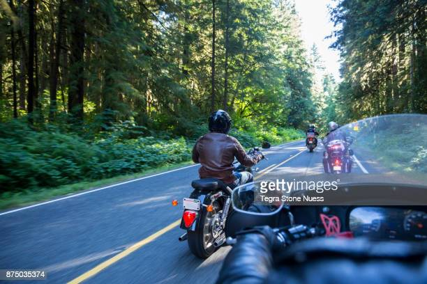 Motorcycle club on Highway 101