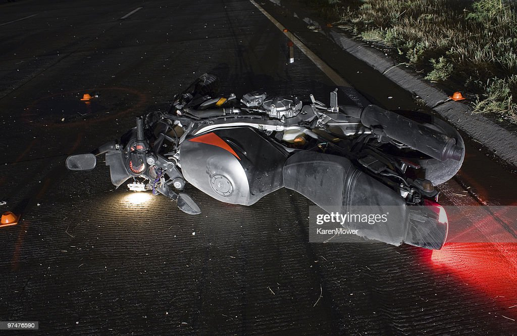 Motorcycle Crash : Stock Photo