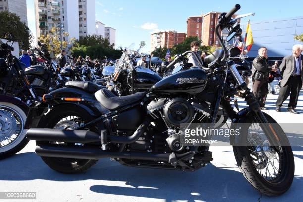 L´HOSPITALET BARCELONA SPAIN Motorcycle displays in L'Hospitalet where motorcycles of wellknown brands like HarleyDavidson or Indian are displayed...