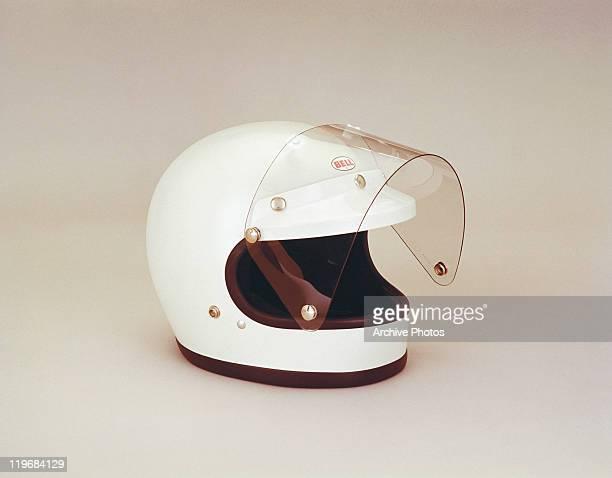 Motorcycle helmet, close-up