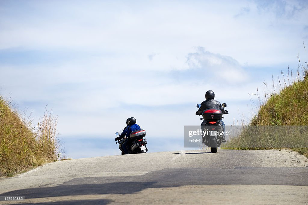 motorcycle in the road : Stock Photo