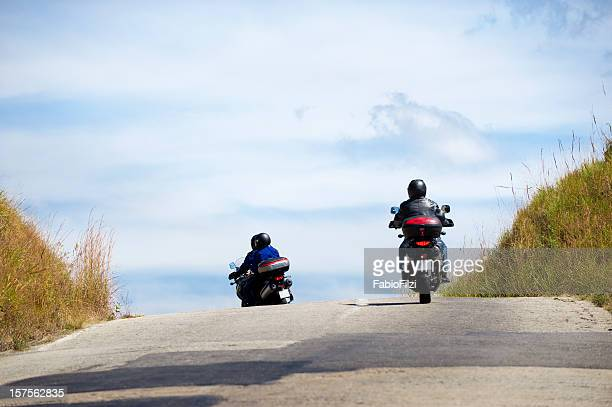 motorcycle in the road