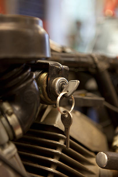 Motorcycle Key In Ignition Wall Art