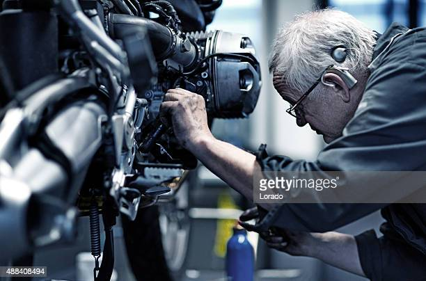 Motorcycle Mechanic at Work