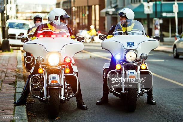 Motorcycle police officers