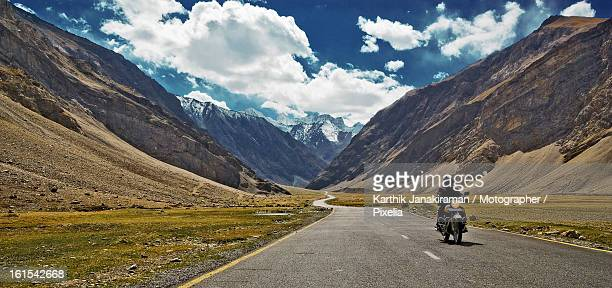 Motorcycle ride in Ladakh