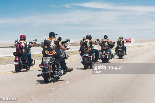 motorcycle rider road trip travel - gang stock pictures, royalty-free photos & images