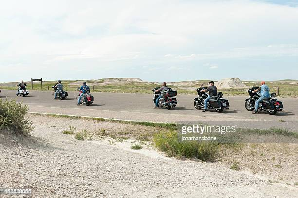 motorcycle riders in south dakota, usa - black hills south dakota stock photos and pictures