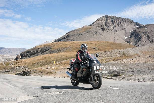 Motorcycle riding in the French alps