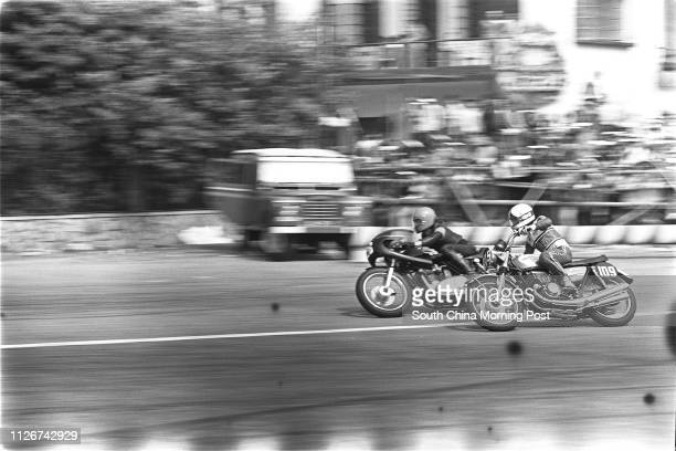 A motorcycle session of the 20th Macau Grand Prix 18 November 1973