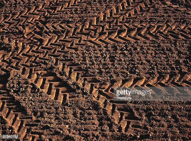 motorcycle tire tracks in mud