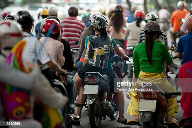 Motorcycle traffic, Ho Chi Minh City, Vietnam