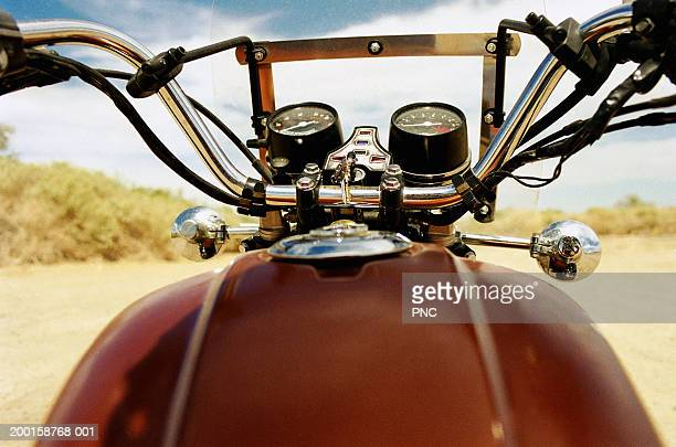 Motorcycle, view from gas tank