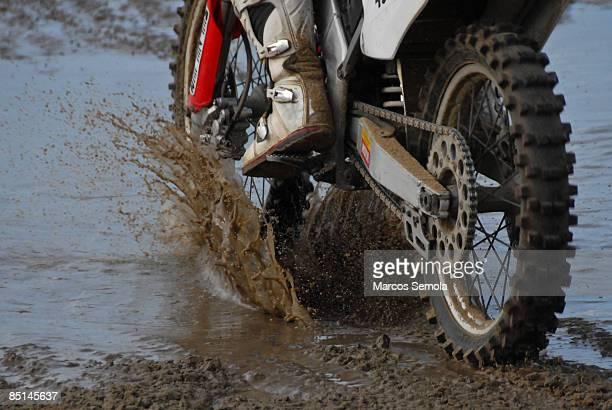 Motorcycle wheel in a mood