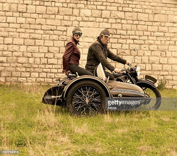Motorcycle with Sidecar - 1935 Style