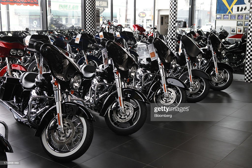 A Harley Davidson Store Ahead Of Earnings Figures Photos and Images