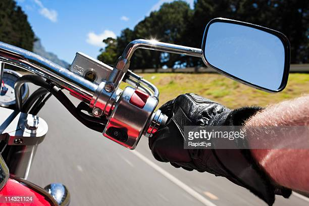 motorcycling - handlebar stock photos and pictures