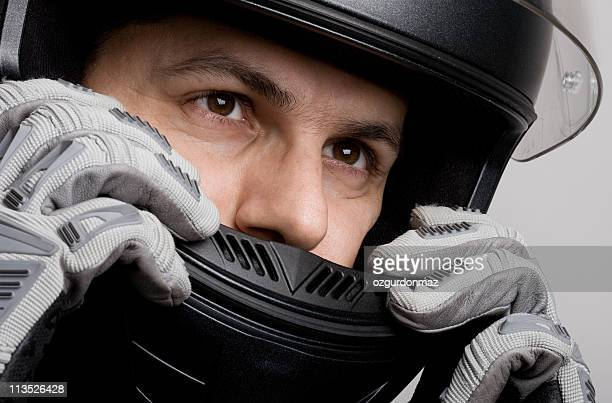 motorcyclist - crash helmet stock pictures, royalty-free photos & images