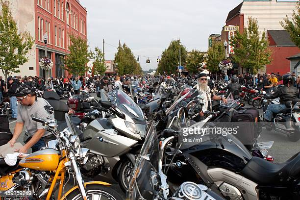 Motorcyclists and Bikes At Oyster Run 9-23-12