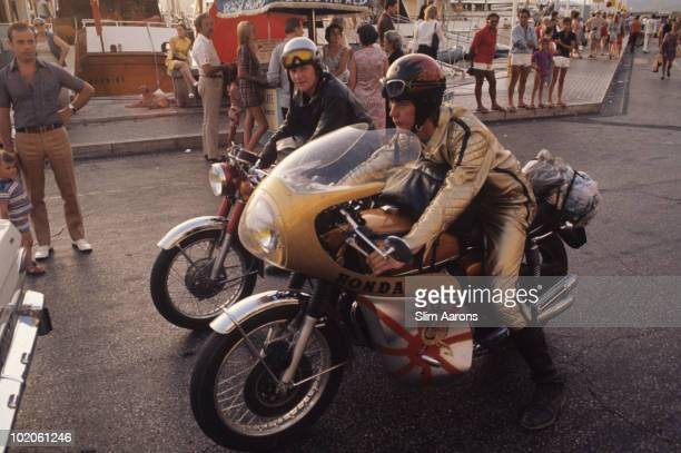 Motorcyclists in SaintTropez on the French Riviera August 1971