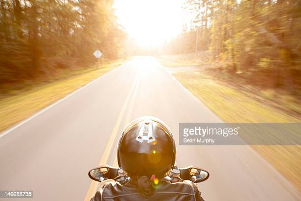 Motorcyclist's Perspective of the Open Road