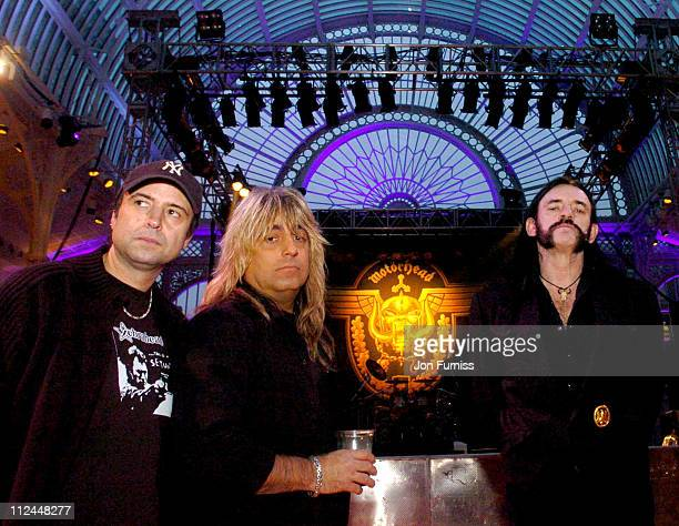 Motorhead during Motorhead A Night At The Opera Soundcheck and Photocall at Royal Opera House in London Great Britain