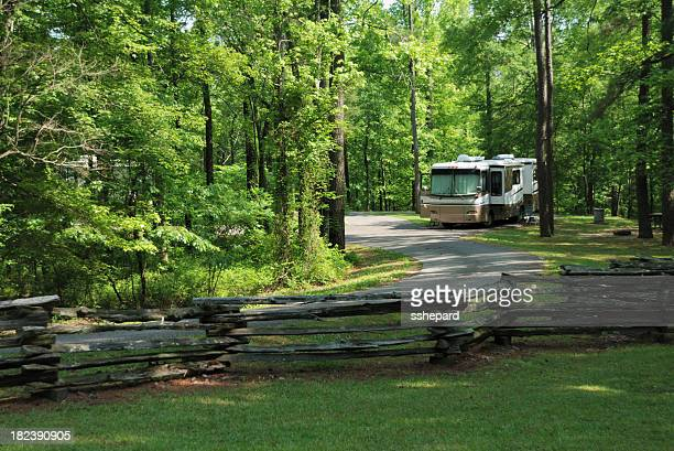 Motorhome in campground