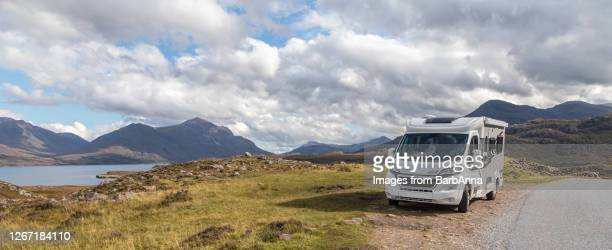 motorhome on a tour of scotland - wester ross stock pictures, royalty-free photos & images