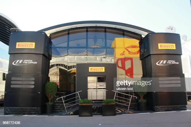 Motorhome Pirelli, formula 1 GP, Spanien in Barcelona