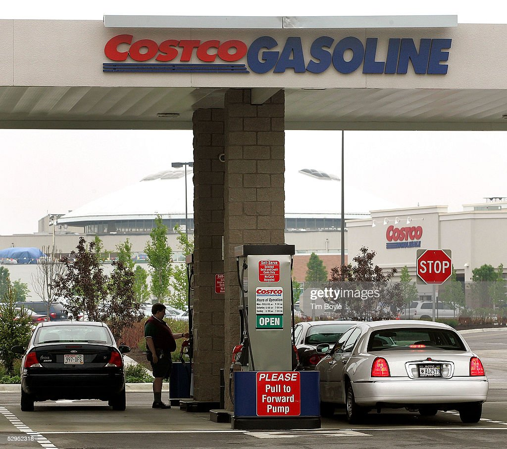 a motorist pump gas at a costco gas station may 19 2005 in mount prospect