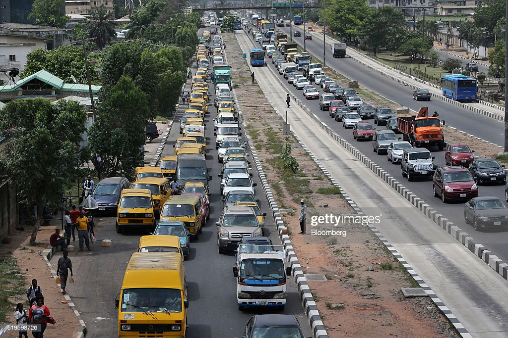 Fuel Shortages In Nigeria Cause Queues At Gas Stations : News Photo