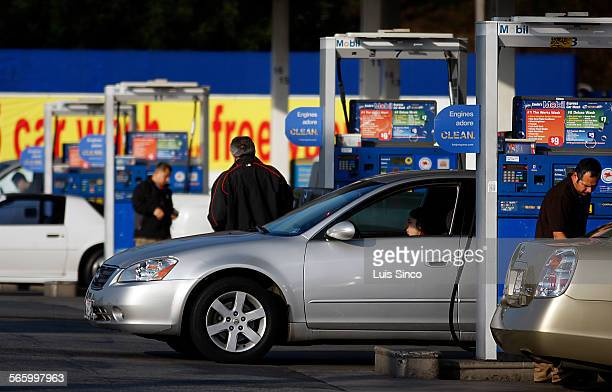 Motorists were hit hard at the pumps of a Mobil station in Boyle Heights where prices topped off at $433 per gallon for premium gasoline on Monday...