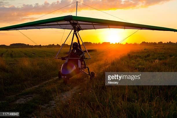 aliante elettrica - aereo ultraleggero foto e immagini stock