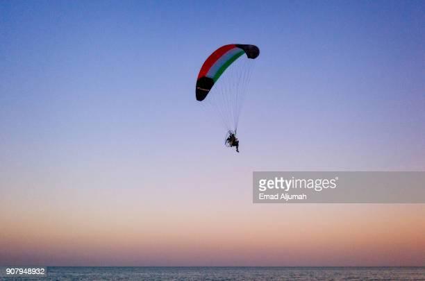 Motorized Para-glider in Salmiya seafront, Kuwait - November 17, 2017