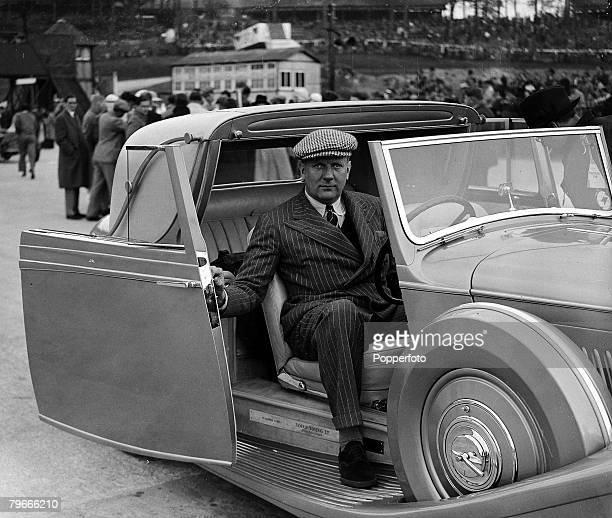 MotorRacing 7th May 1938 England Racing Driver John Cobb in a Bentley car