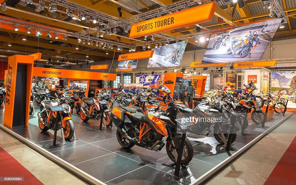 KTM motors show stand : Stockfoto