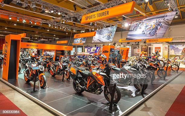 KTM motors show stand