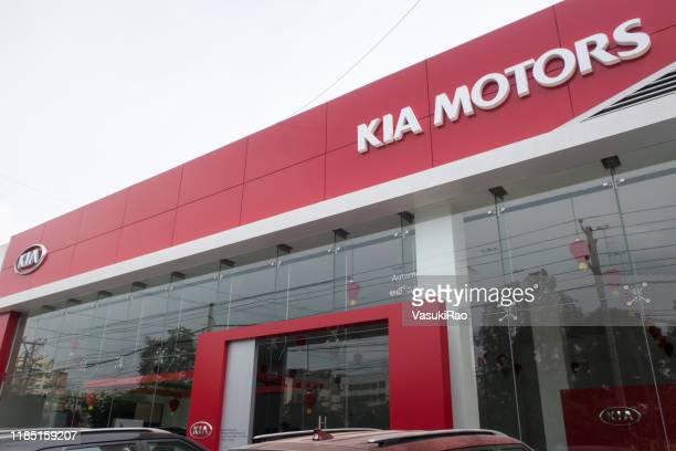 kiaモーターズショールーム、ハイデラバード、インド - キア ストックフォトと画像