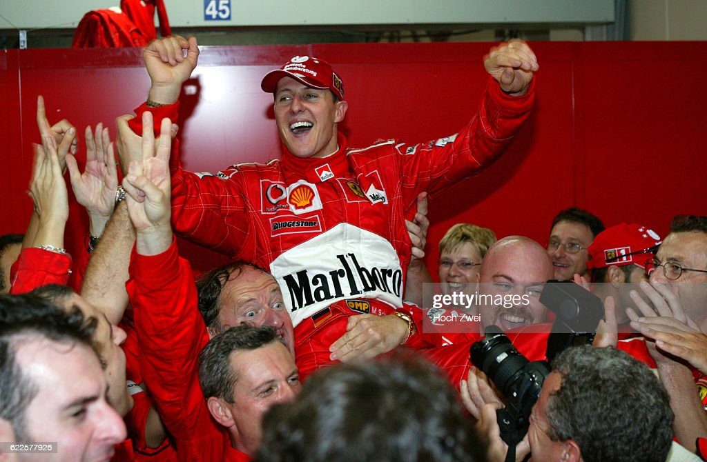 GP Japan 2003, Michael SCHUMACHER / GER ( Ferrari ) wird Weltmeister, copyright: HOCH ZWEI / Juergen Tap
