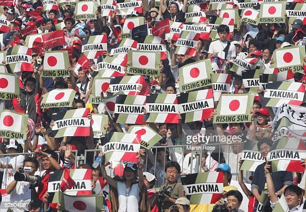Motorsport / Formel 1: GP von Japan 2004, Suzuka; Fans von Takuma SATO / JPN / BAR-HONDA 10.10.04.