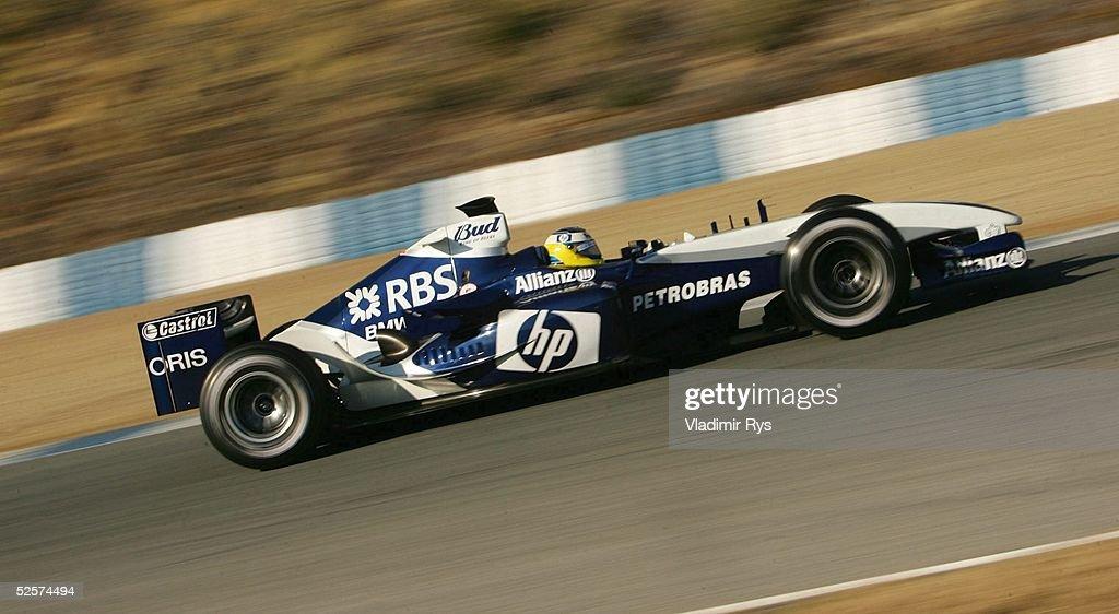 Motorsport/Formel 1: Testfahrten 2005 : News Photo