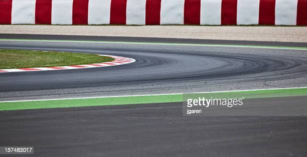 a motorsport racetrack road for sport - nascar stock pictures, royalty-free photos & images