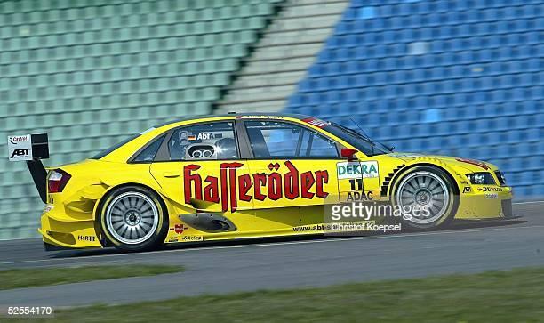 Motorsport / Tourenwagen: DTM 2004, 1. Lauf, Hockenheim; Training; Christian ABT / GER, Audi Sport Team Abt Sportsline auf Audi A4 DTM 16.04.04.