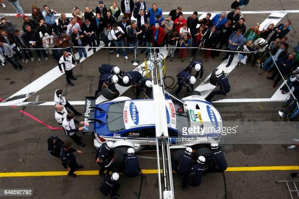 Motorsports / DTM 9 race Zandvoort #24 Maxime Martin pit stop training Boxenstoptraining