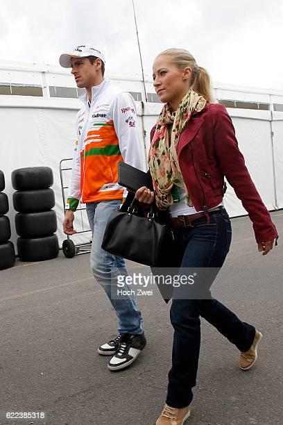 FIA Formula One World Championship 2013 Grand Prix of Canada #15 Adrian Sutil and his girlfriend Jennifer Becks