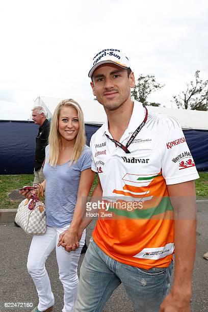 FIA Formula One World Championship 2013 Grand Prix of Italy #15 Adrian Sutil and his girlfriend Jennifer Becks